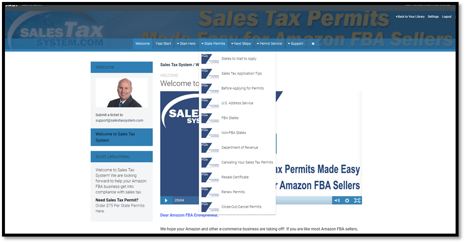 Sales Tax System Dashboard