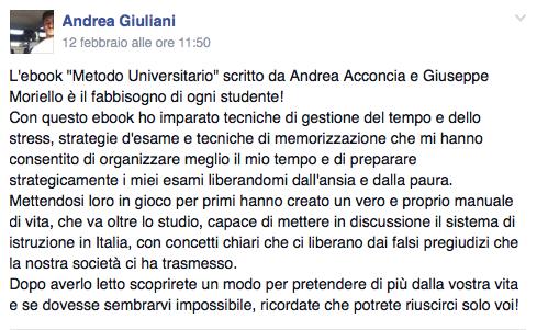 rec Andrea - Il Miglior Metodo di Studio Universitario - Per Studiare Meglio e in Meno Tempo