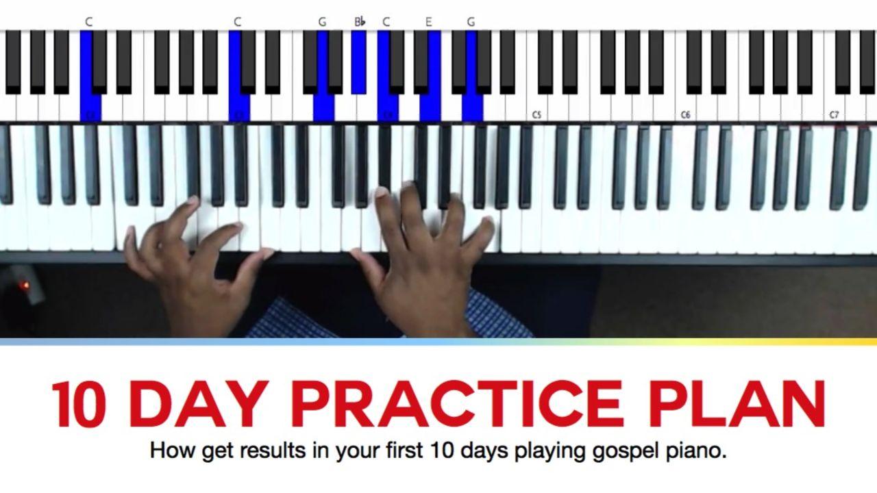 Kajabi next gospel piano super bundle buy now 10 day practice plan for beginners hexwebz Image collections