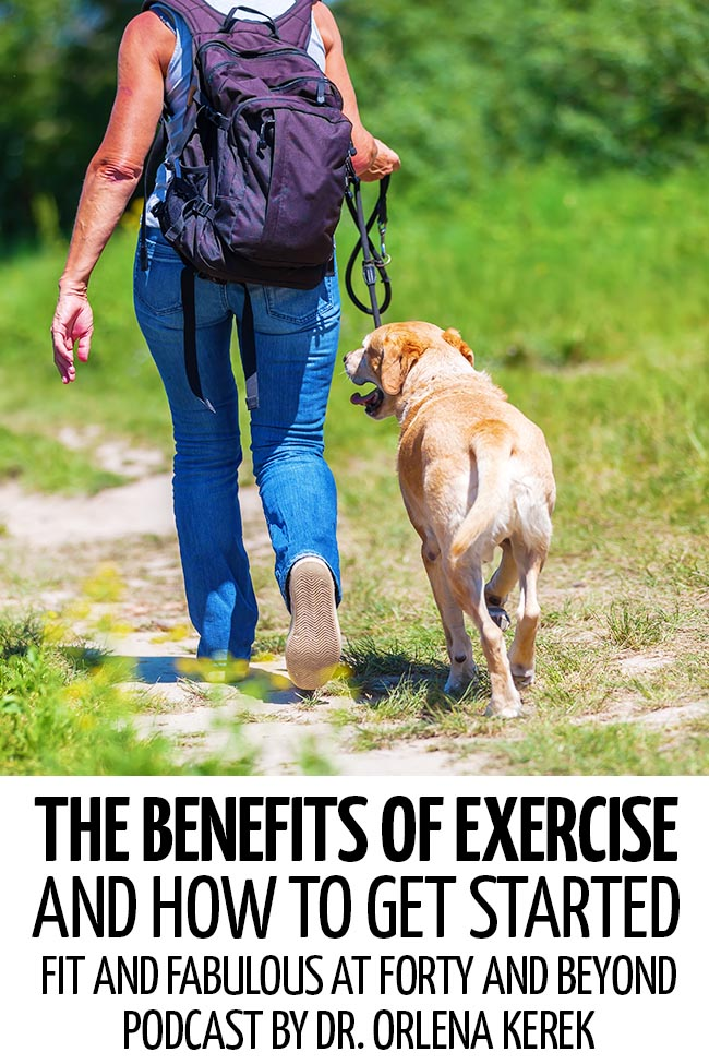 A woman hiking with her dog #healthyliving #healthylivingtips #healthylivingmotivation #healthylifestyle #healthylife #healthytips #exercise #exercisebenefits #exerciseforbeginners #exercisemotivation