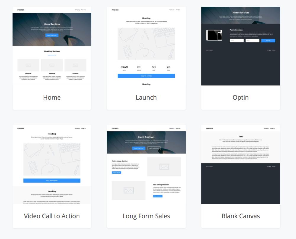 Kajabi Landing Page Theme Library
