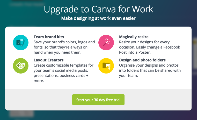 Upgrade Canva To Access More Designs