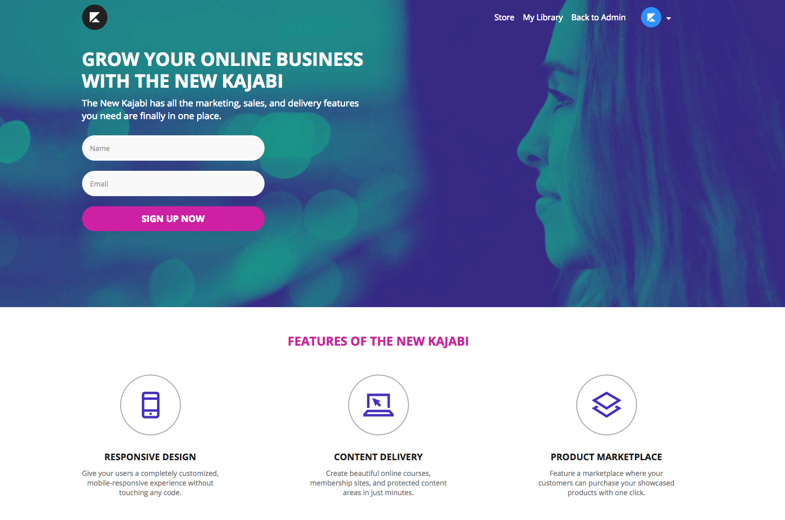 Grow Your List With Beautiful Kajabi Landing Pages