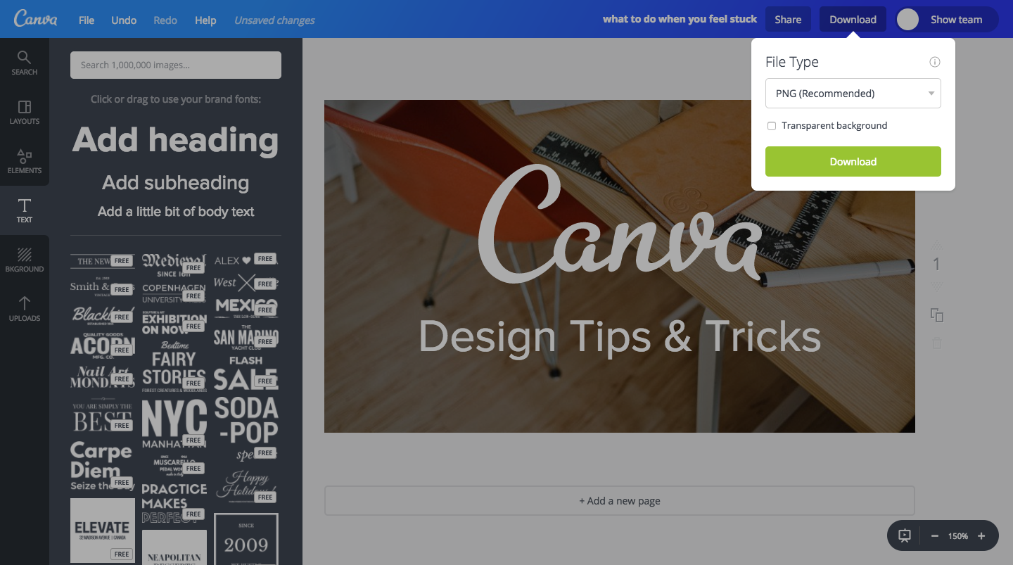 How To Save You Canva Project & Export It