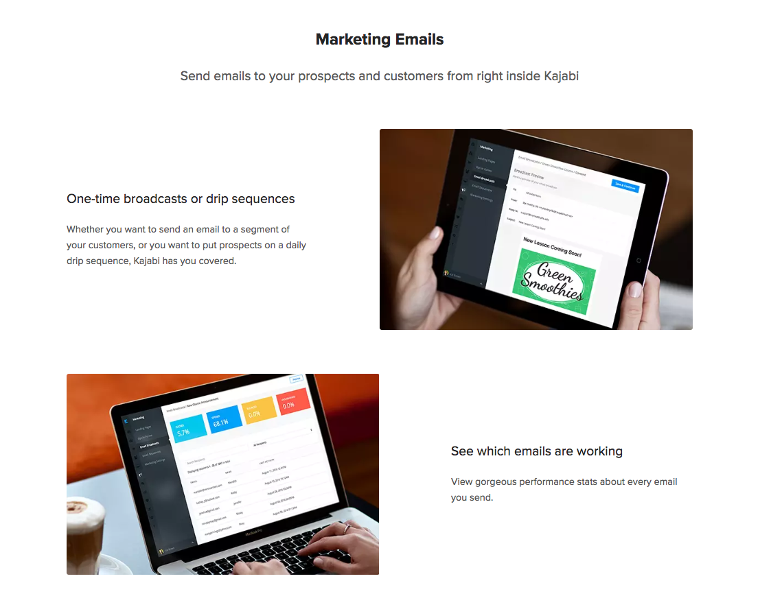Kajabi - send email marketing campaigns