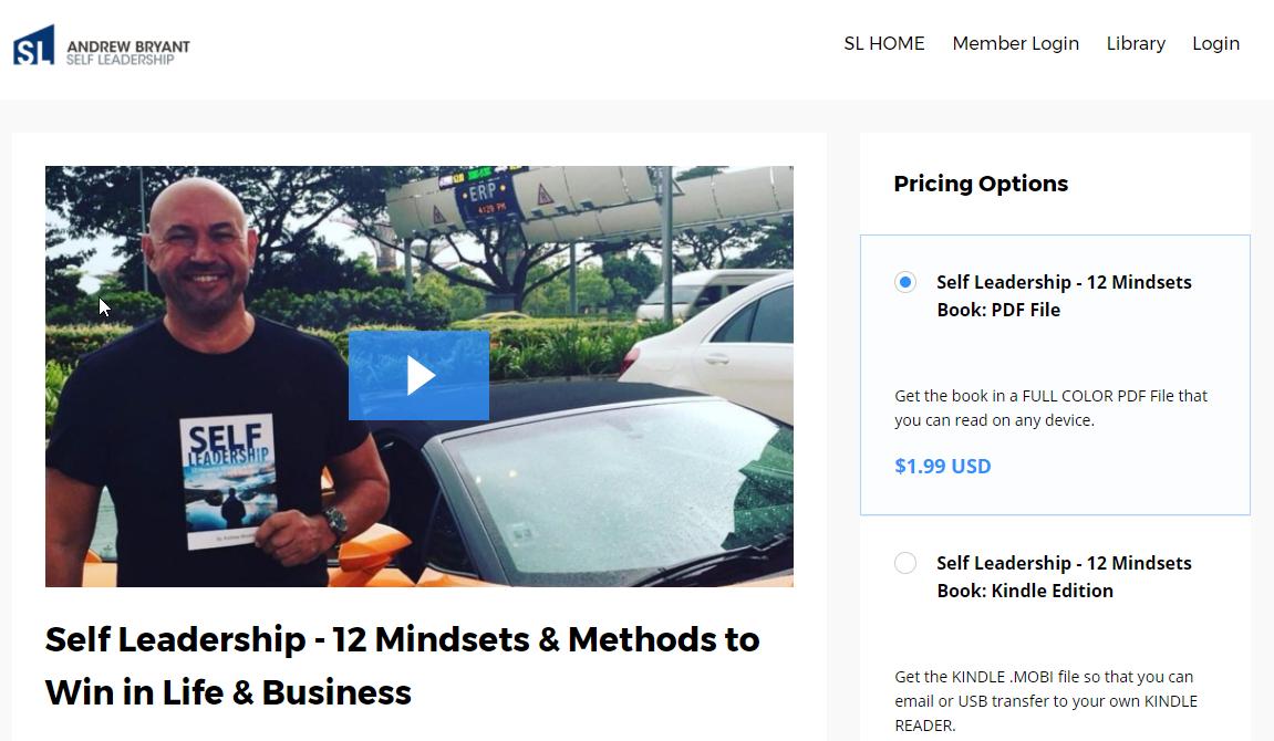 andrew bryant self leadership sales page