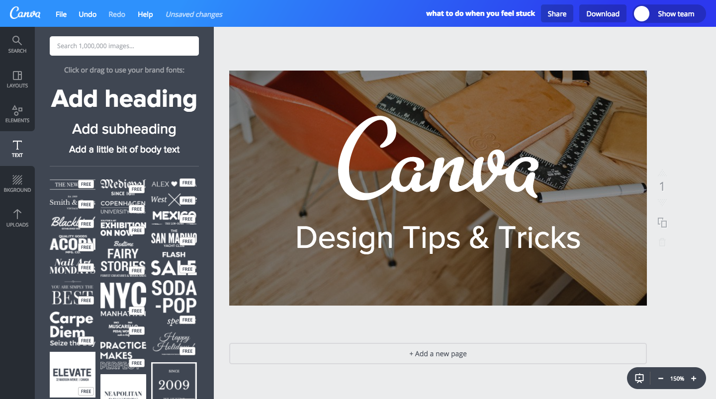 How To Add Headlines & SubHeadlines To Your Canva Photo