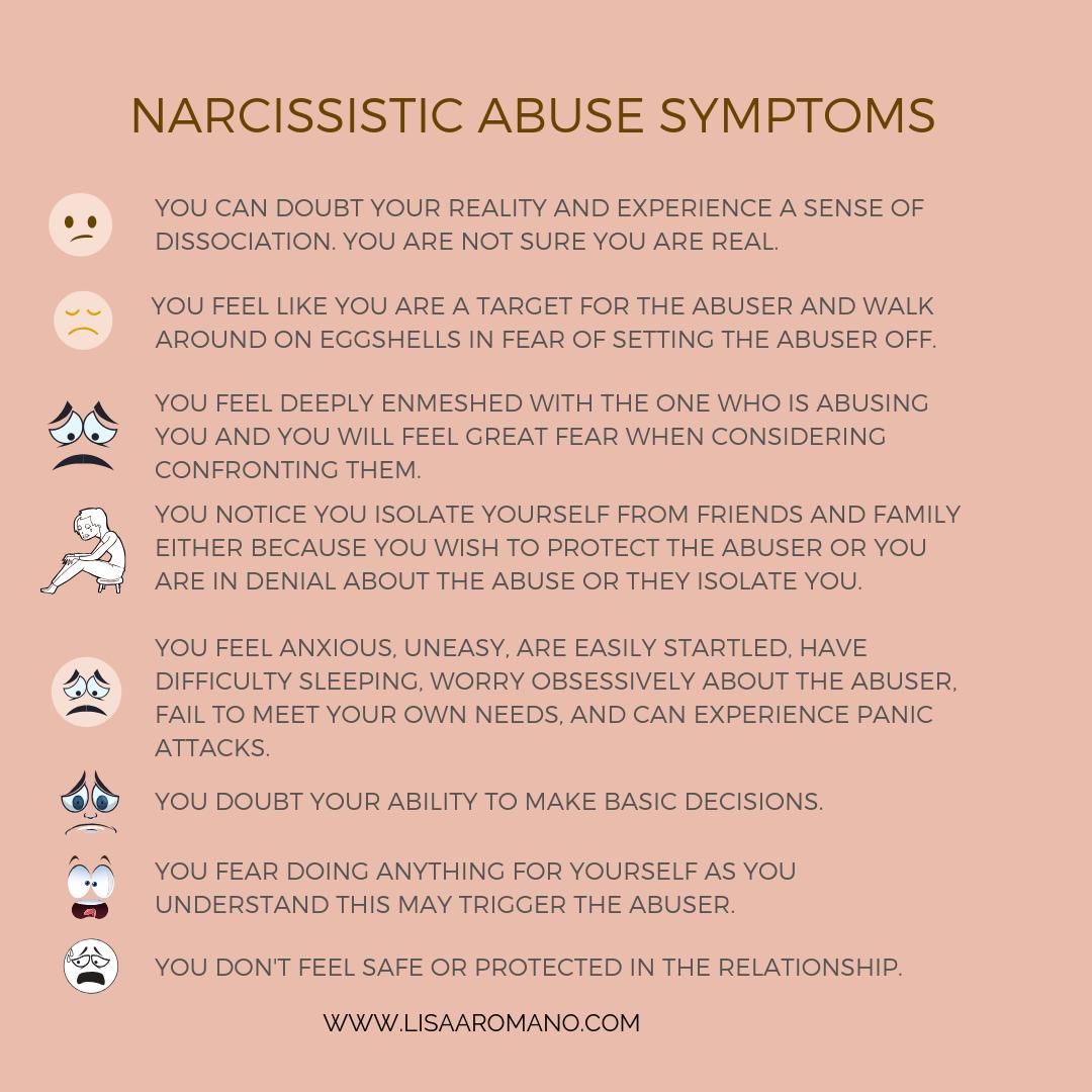 Narcissistic Abuse Symptoms