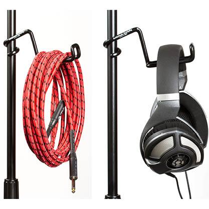 Swirly gig headphone holders