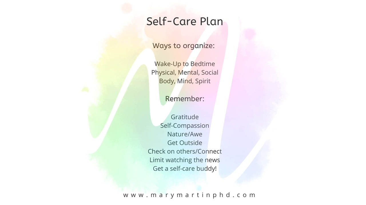 self care plan by mary martin phd
