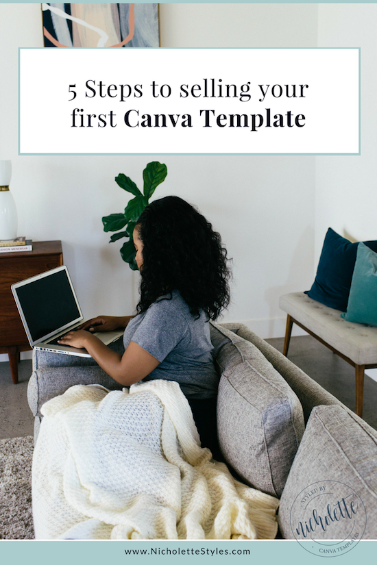 Steps To Selling Your First Canva Template - Template for selling home