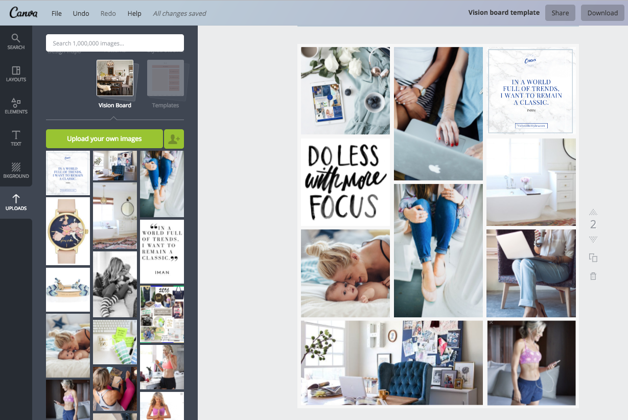 The Best Way to Make a Vision Board Using Canva