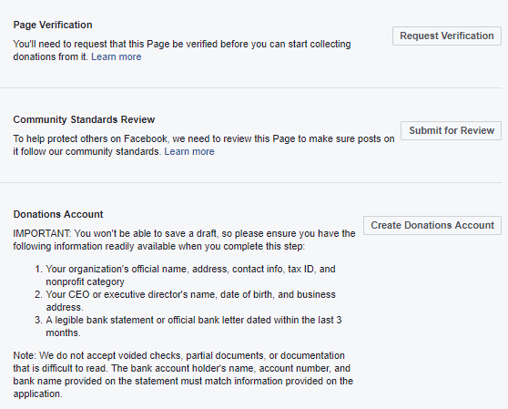 Facebook Donation Tools (Revisited)
