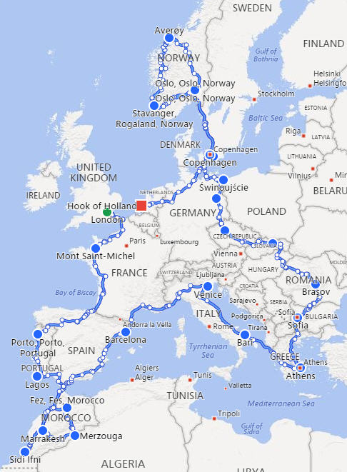 Their route.