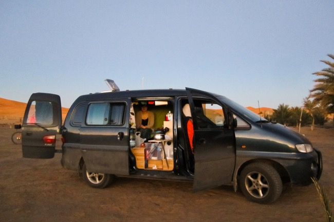 The van in Morocco