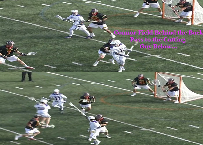 BTB  Lacrosse Coach Jesse Miller explains Connor Fields behind the back shot with lacrosse online instruction