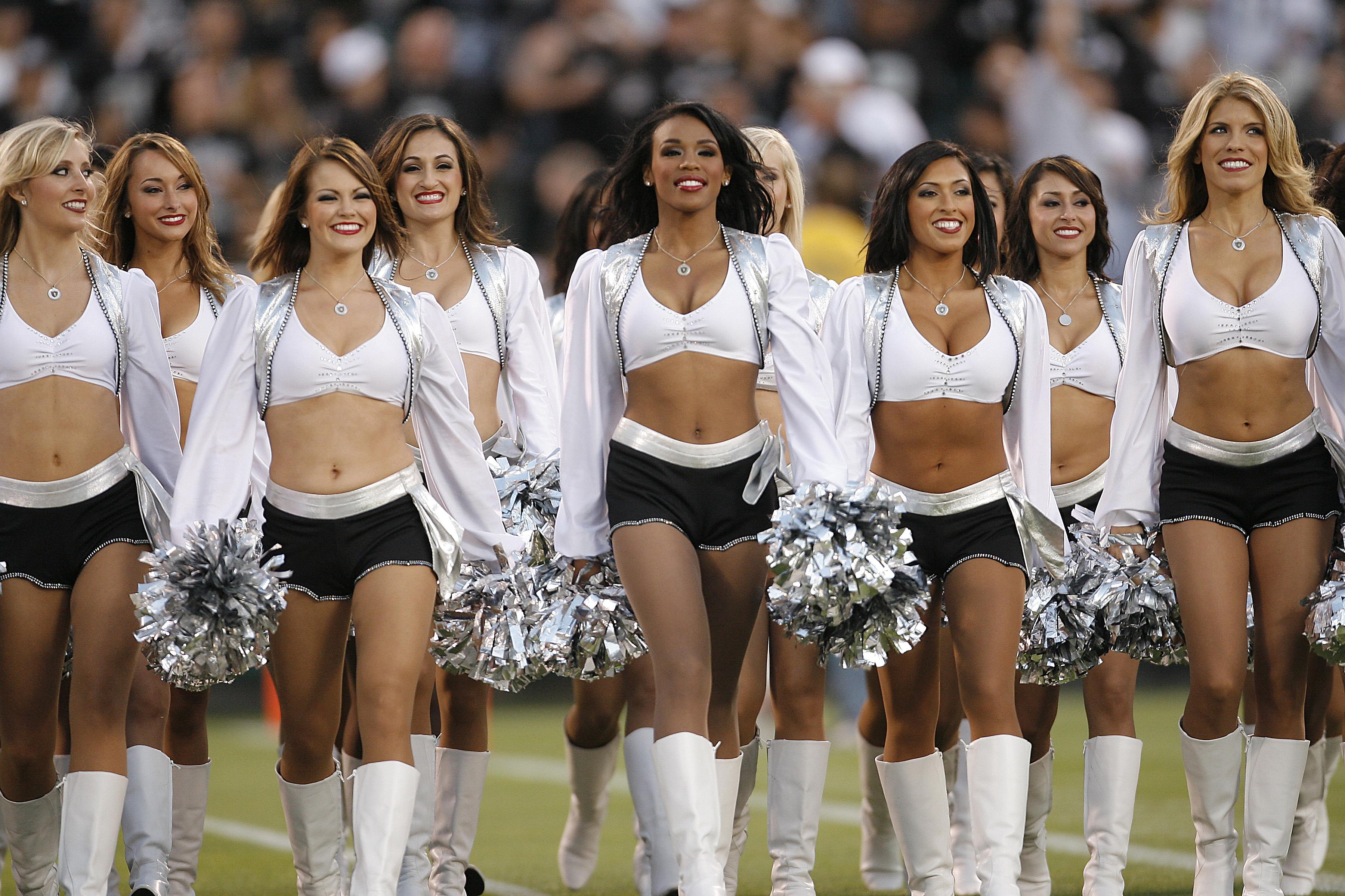 A group of cheerleaders use jock 8
