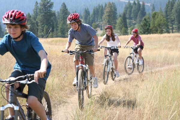 riding bike Teen