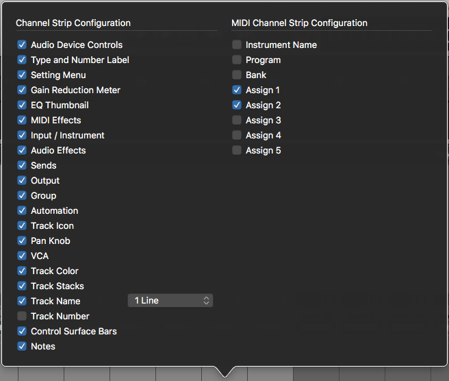 Logic Pro X Configuring Channel Strip Components