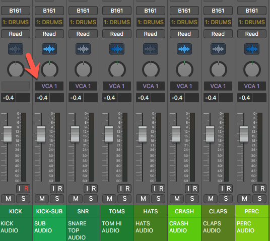 Logic Pro X Location of VCA Channel Strip
