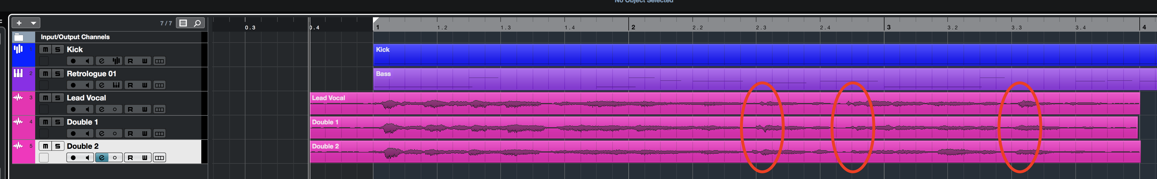 Vocal recording before Audio Alignment