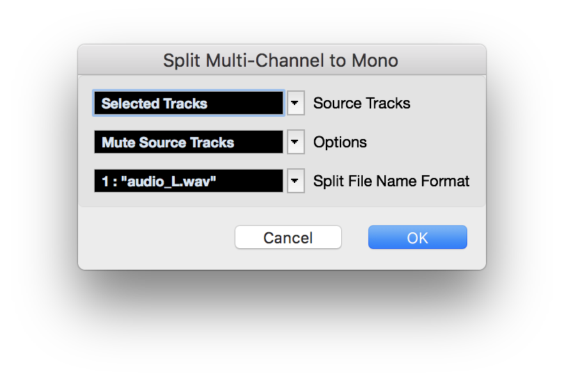 Split Multi-Channel to Mono