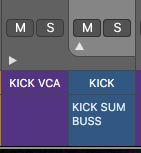 Logic Pro X Kick VCA & Kick Summing Buss
