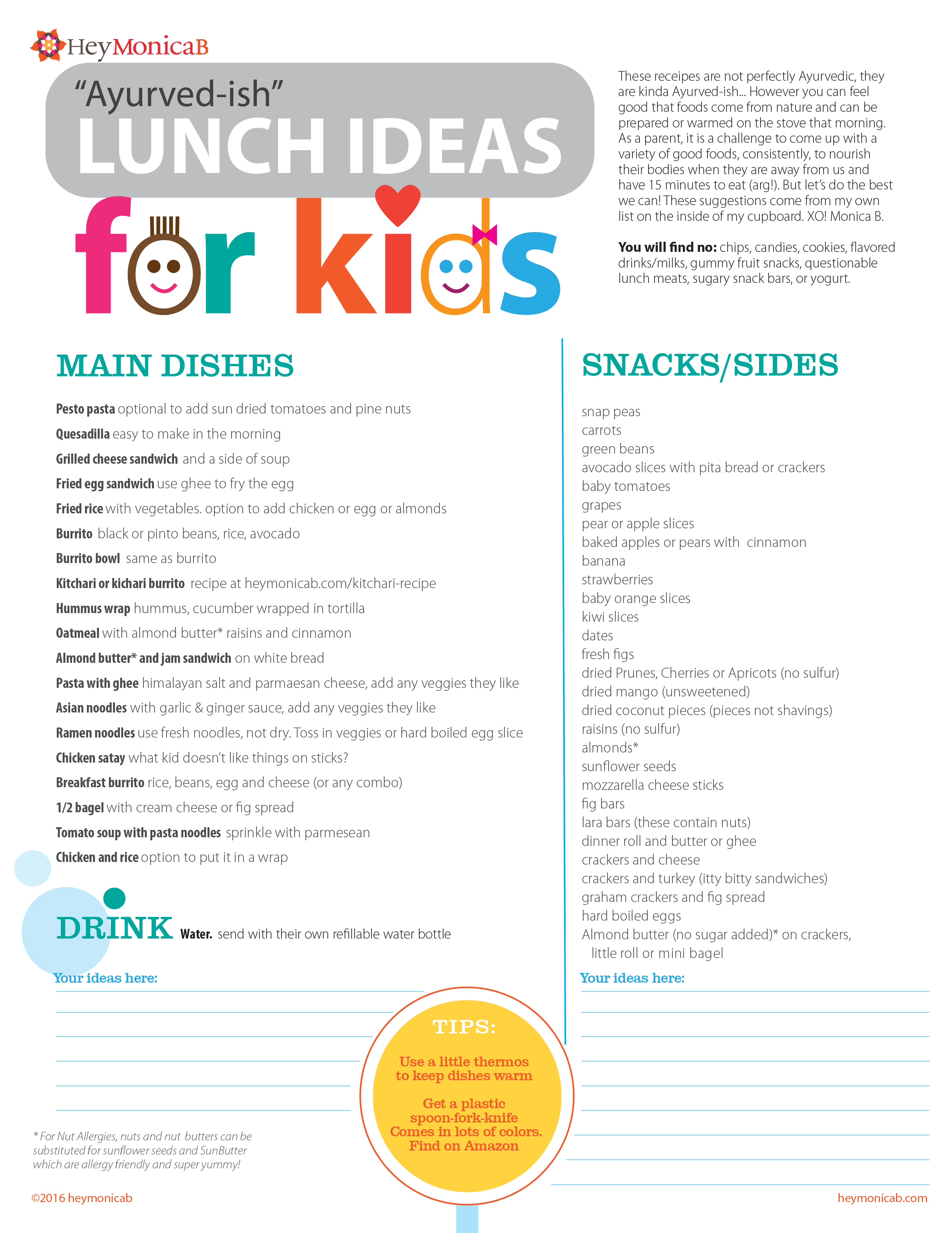 Ayurveda   Lunch Ideas for Kids