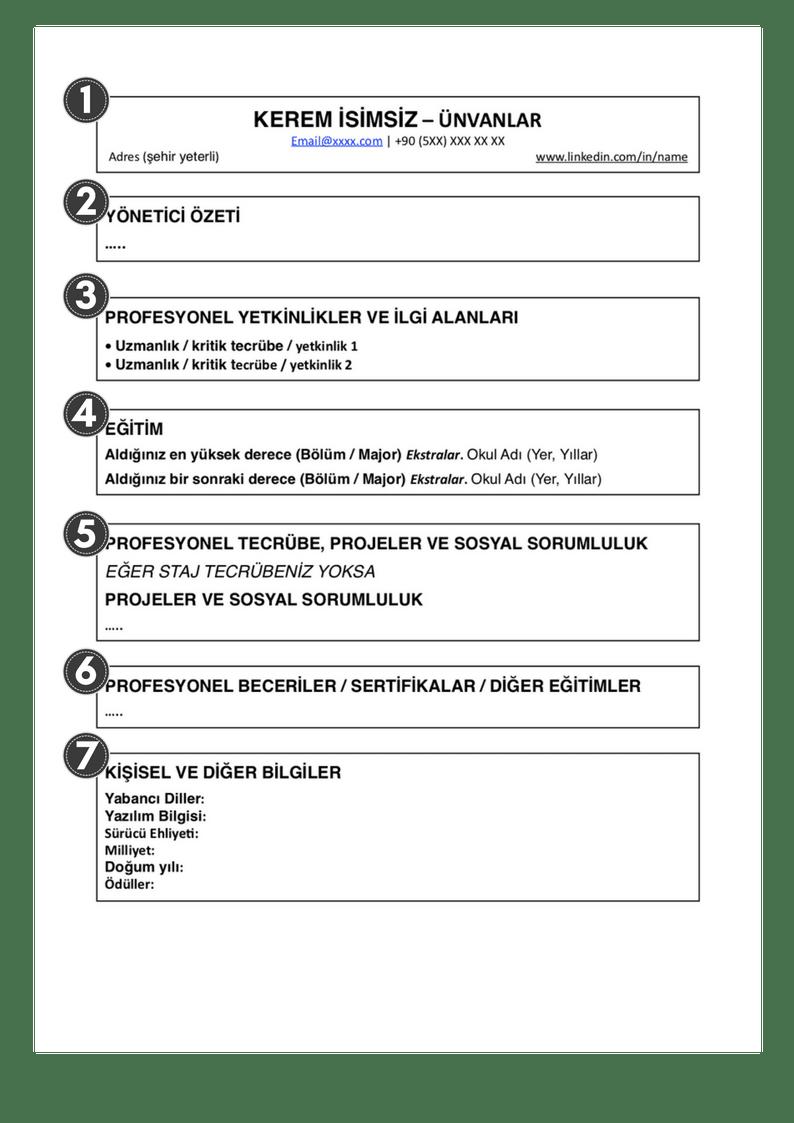 CV nasıl yazılır, CV çeşitleri ve örnekleri