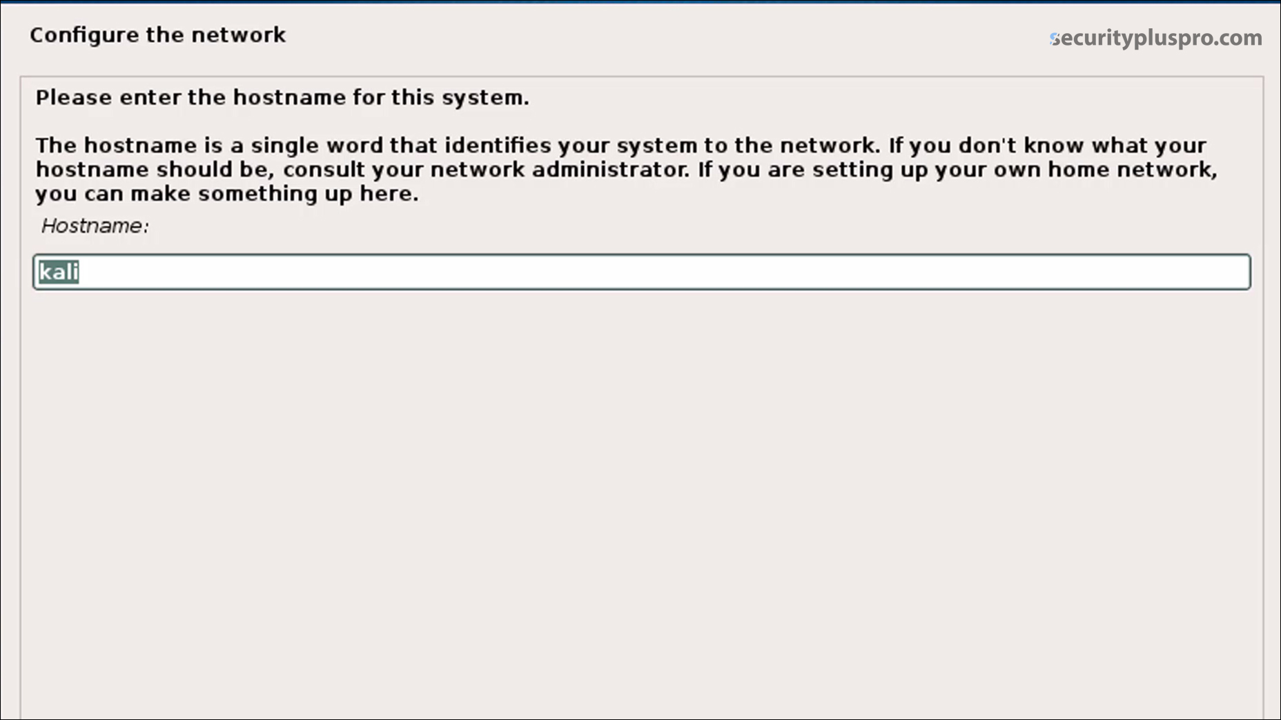 Security+ Training Online | Lab | Installing Kali Linux