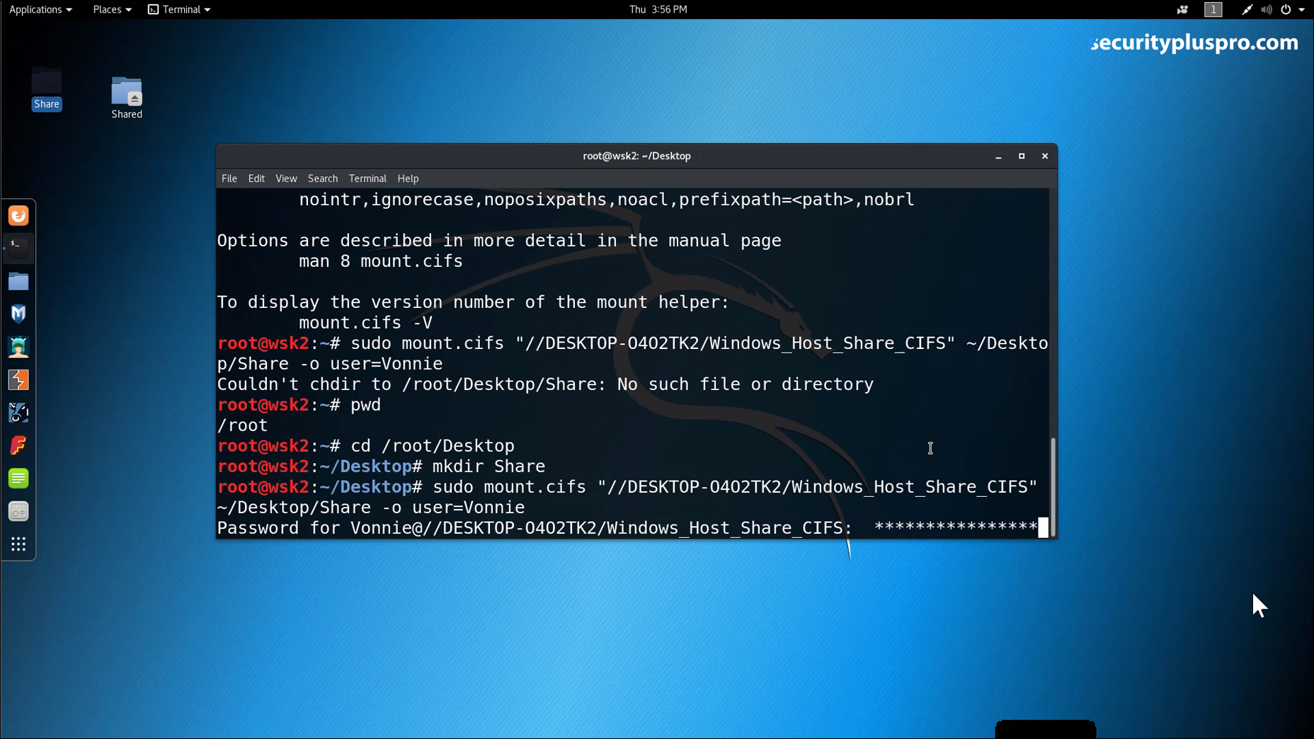 Security+ Training Online   Lab   Sharing Files in Kali (Part 7 of 7)