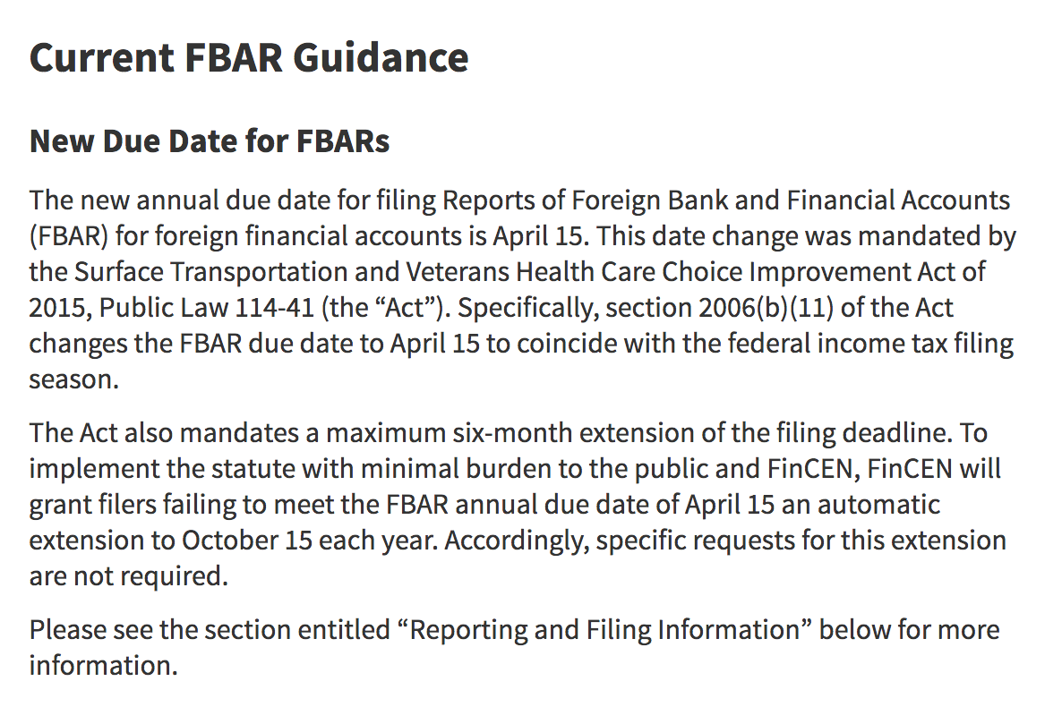 Reminder: FBAR and 8938 filings are due! - Solo 401k