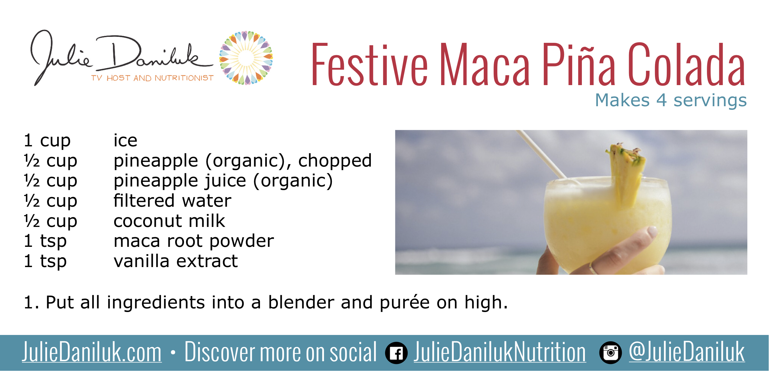 Maca Pi 241 A Colada Recipe Festive Fruity Fun Amp Fabulous