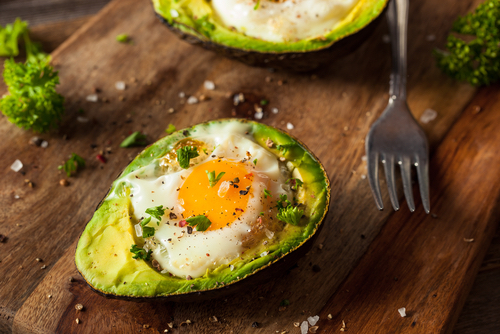 Baked Egg In Avocado - JulieDaniluk.com