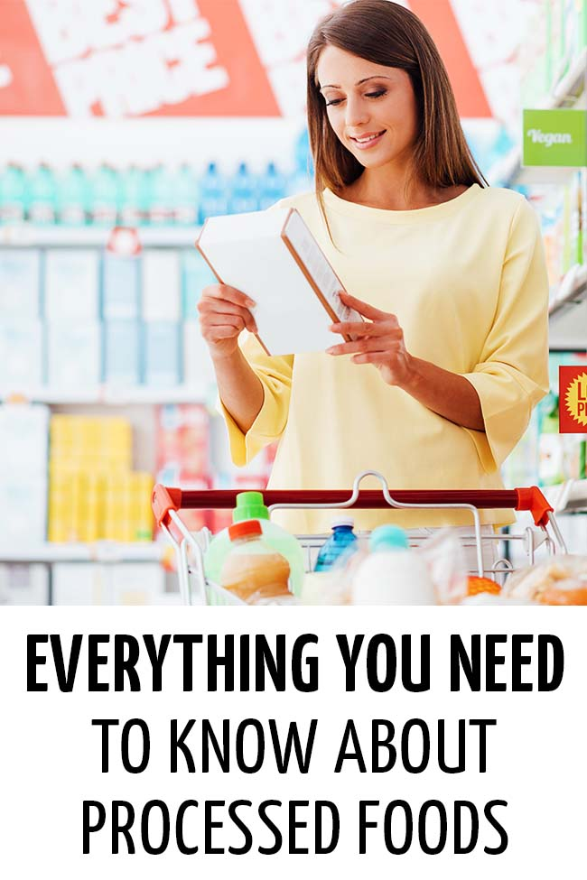 Young woman reading the label carefully at the grocery store #processedfood #packagedfood #readinglabels #understandinglables #healthyeating #healthymeals