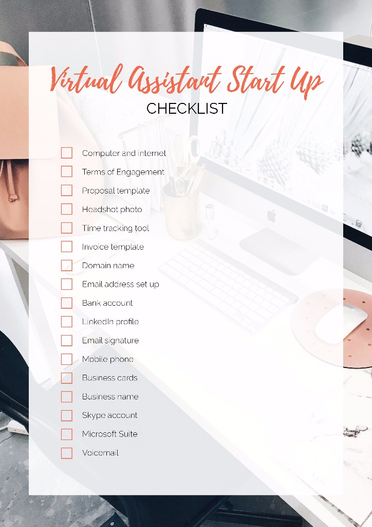 Virtual Assistant Start-Up Checklist