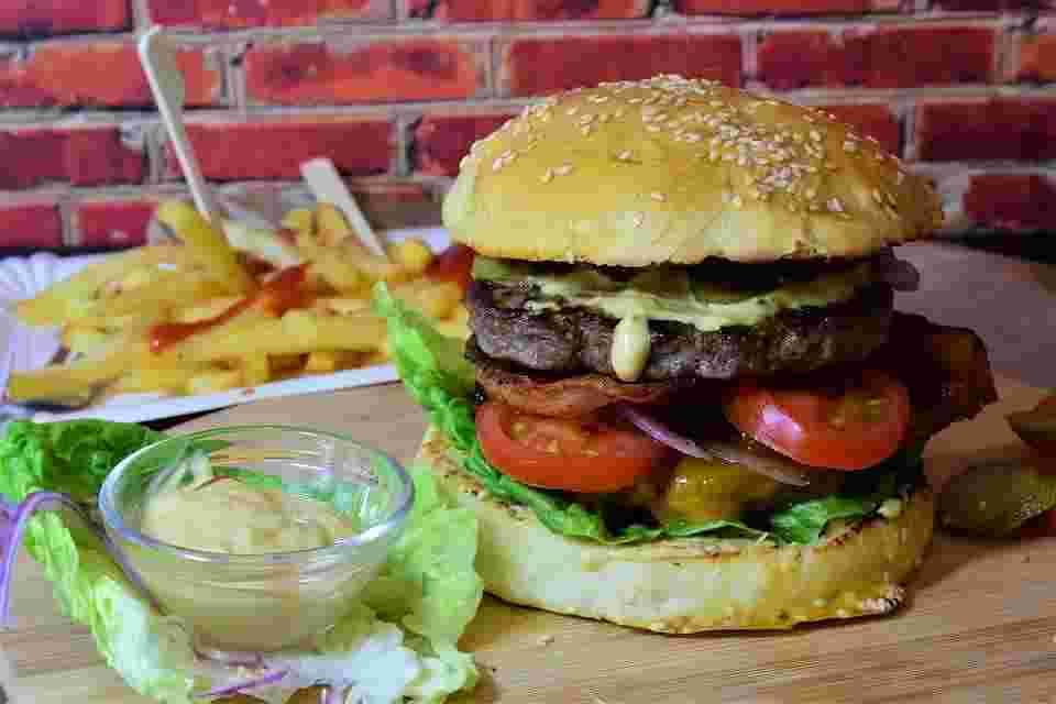 burgers and french fries as junk food