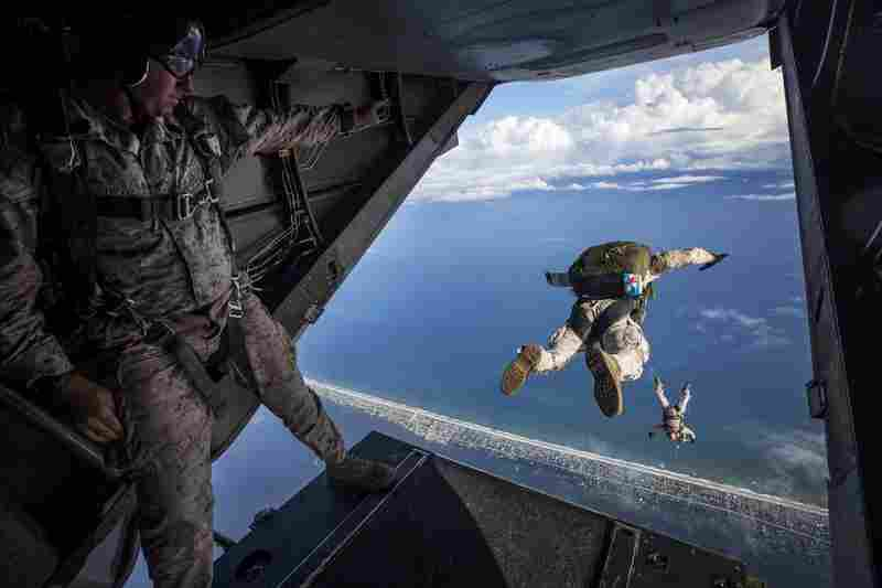 a man who jumps from an airplane, and is a risk taker