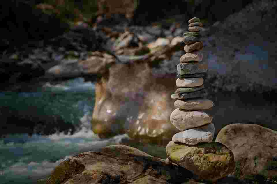 stones that show balance. Correct self-judgment is analogous to balance in this blog post