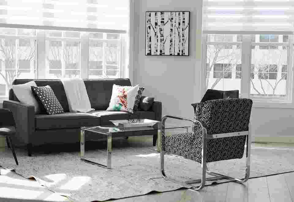 a picture of furniture, which can off gas VOCs