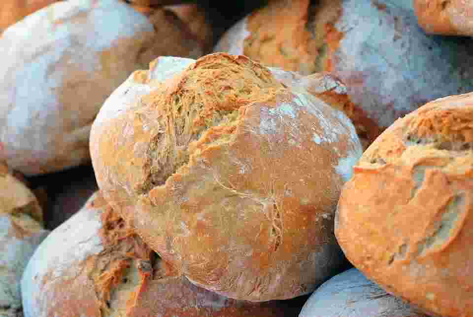 bread, one of the most common food intolerances people have due to gluten