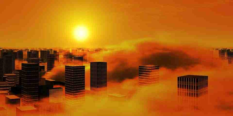 air pollution blocks sunlight and specifically ultravoilet light