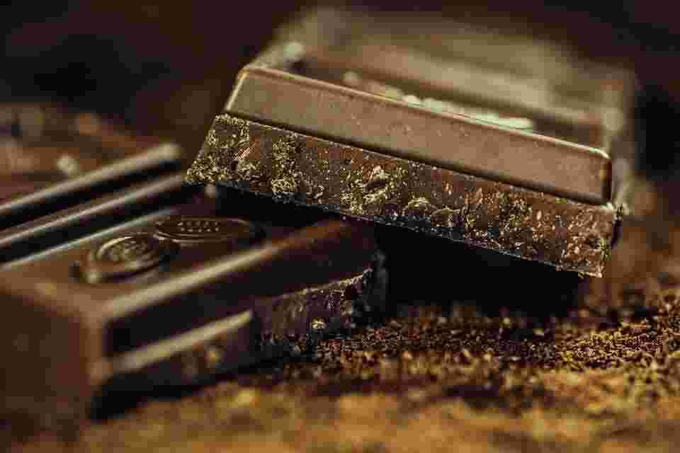dark chocolate, which is rich in phytic acid