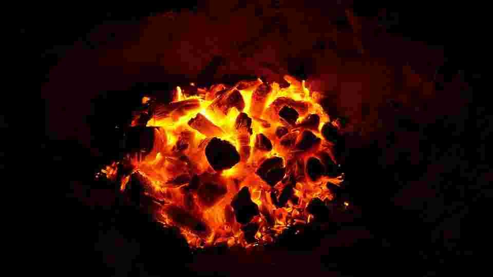 a fire that emits sulfur dioxide