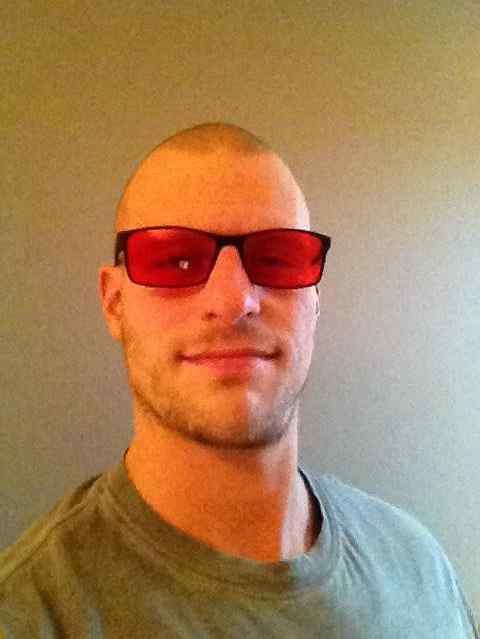 Bart Wolbers wearing red-tinted glasses