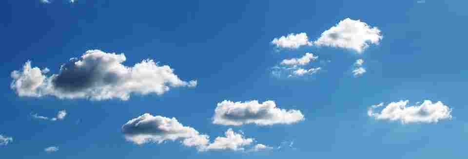 picture of the sky, in which ozone was depleted up until 20 years ago