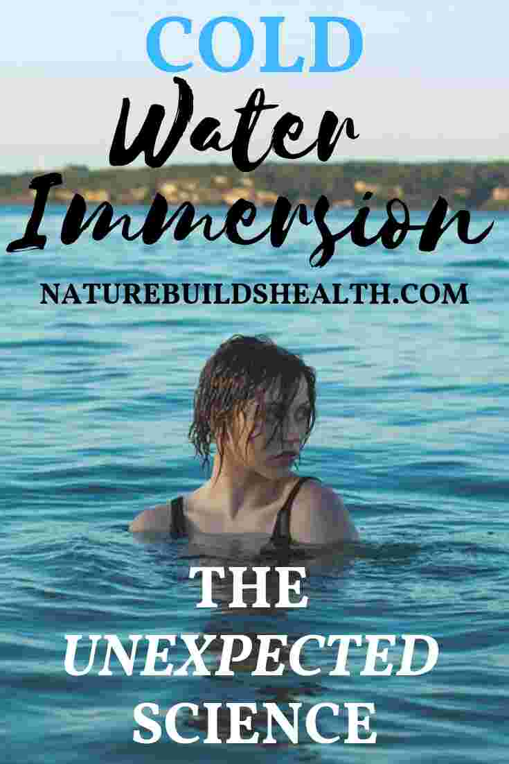 cover photo for this blog post, which shows a woman who is using cold water immersion in the ocean
