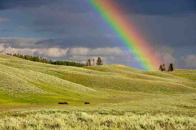 different types of visible light that can be observed in a rainbow