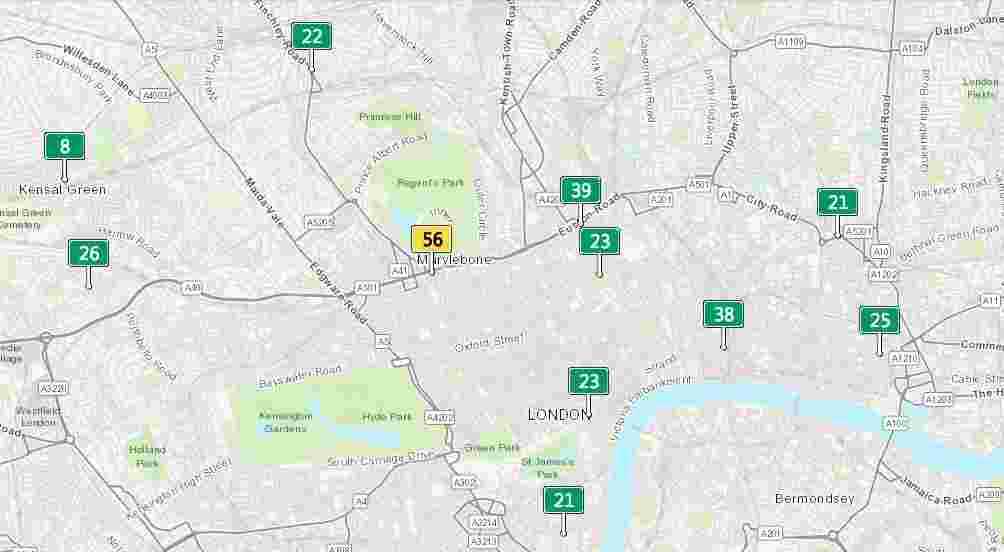 air pollution measurement in London - air quality index