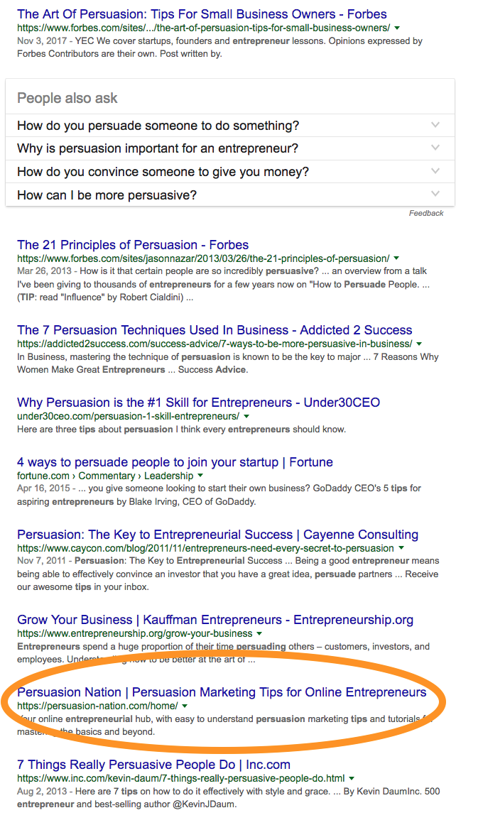 Image of: Insta Just Take Look At What Came Up When Googled persuasion Tips For Entrepreneurs Time Magazine Clever Ways To Come Up With Creative Blog Name